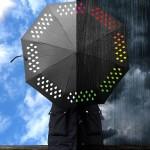 Зонт, меняющий цвет во время дождя