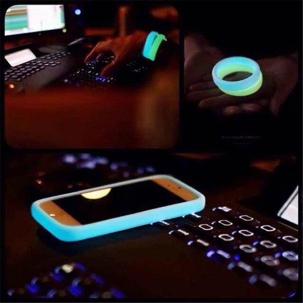 Светящийся браслет + бампер для телефона