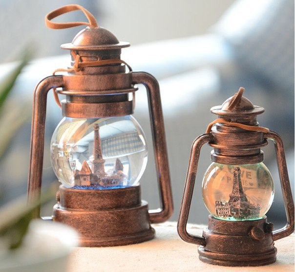 Декоративные керосиновые лампы с хрустальным шаром