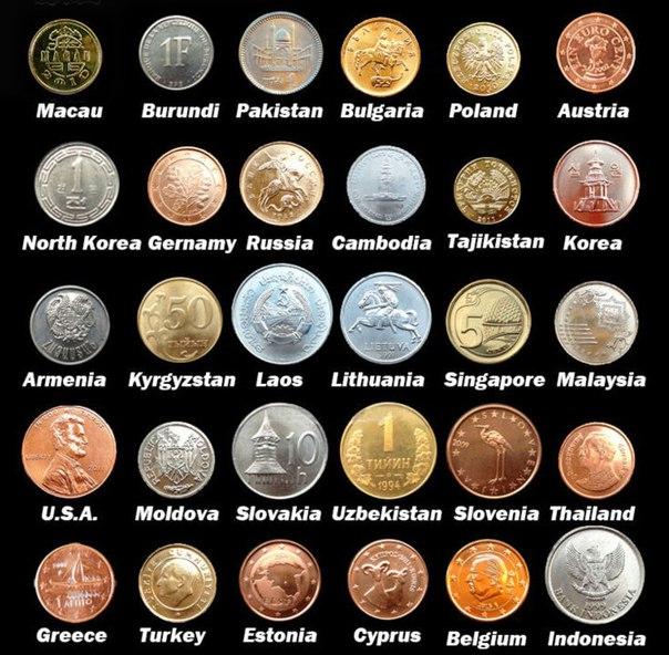 Набор монет из 30 стран