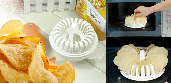 Форма для приготовления чипсов в микроволновке