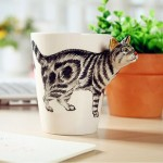 3D чашка с котом