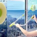 Самый простой способ помыть окна с обратной стороны