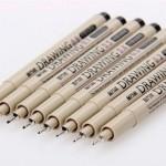 Комплект ручек для рисования. Разный диаметр (8 шт)