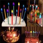 Свечи с цветными огоньками для торта ко дню рождения