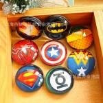 Магнитики с символикой супергероев (8 шт.)