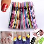 Наклейки — линии для украшения ногтей