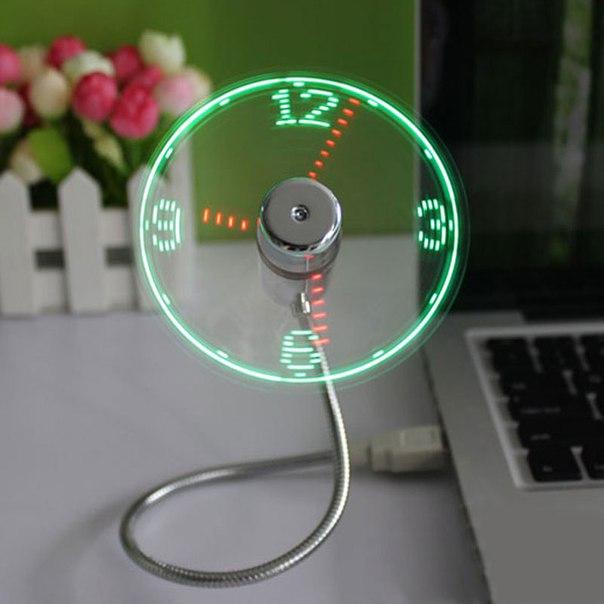USB часы-вентилятор