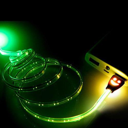 Светящийся кабель mini USB